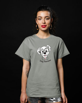 Shop Stay Pawsome Boyfriend T-Shirt (DL)-Front