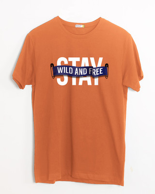 Shop Stay Wild And Free Half Sleeve T-Shirt-Front