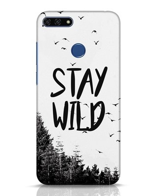 Shop Stay Wild Huawei Honor 7A Mobile Cover-Front