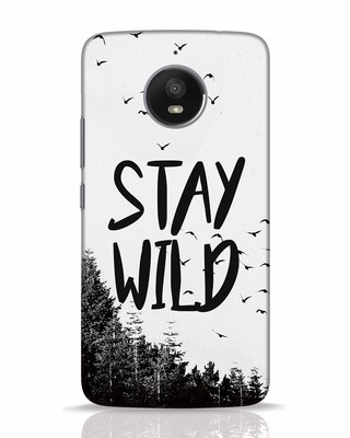 Shop Stay Wild Moto E4 Plus Mobile Cover-Front