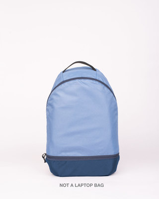 Shop Steel Blue Plain Small Backpack-Front