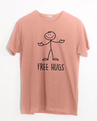 Shop Stick Hugs Half Sleeve T-Shirt-Front