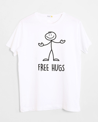 Shop Stick Hugs Half Sleeve T-Shirt-Front