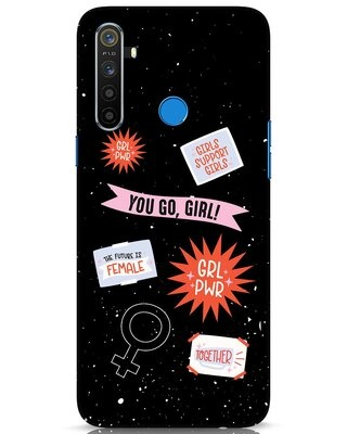 Shop Stickers Realme 5 Mobile Cover-Front
