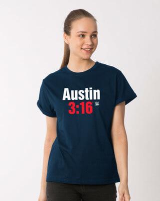 Shop Stone Cold Boyfriend T-Shirt (WWEL)-Front
