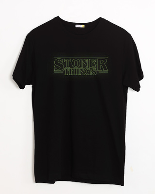 Shop Stoner Green Half Sleeve T-Shirt-Front