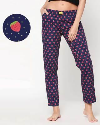 Shop Strawberry Pattern Pyjama-Front