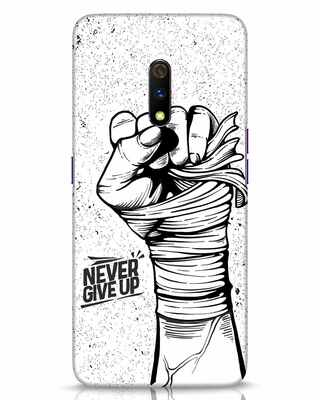 Shop Strength Fist Realme X Mobile Cover-Front