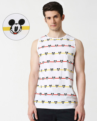 Shop Stripe Mickey AOP Vest T-Shirts-Front