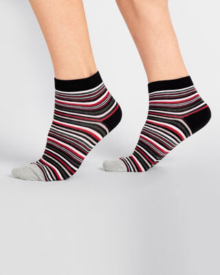 Shop Striped Ankle Length Socks-Front