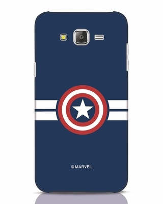 Shop Striped Captain America Samsung Galaxy J7 Mobile Cover (AVL)-Front