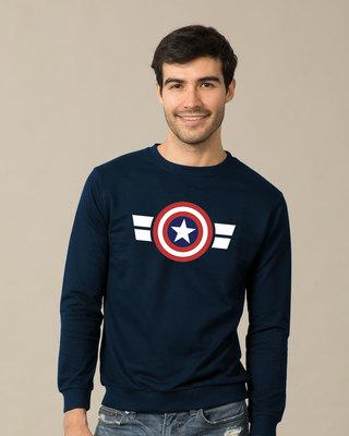 Shop Striped Captain America Sweatshirt (AVL)-Front