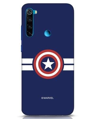 Shop Striped Captain America Xiaomi Redmi Note 8 Mobile Cover (AVL)-Front