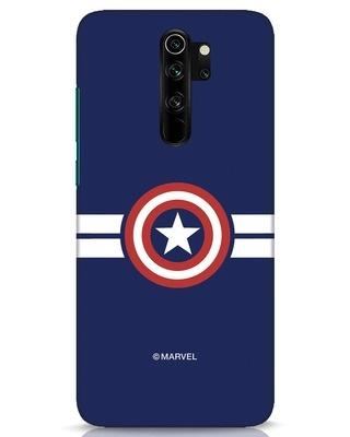 Shop Striped Captain America Xiaomi Redmi Note 8 Pro Mobile Cover (AVL)-Front