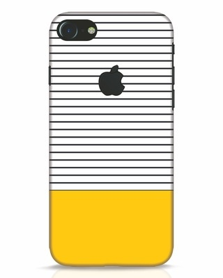 Shop Stripes And Block iPhone 7 Logo Cut Mobile Cover-Front
