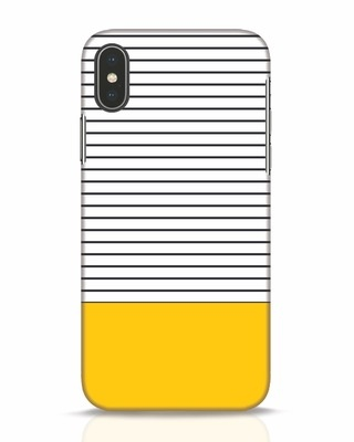 Shop Stripes And Block iPhone X Mobile Cover-Front
