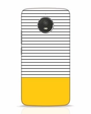Shop Stripes And Block Moto E4 Plus Mobile Cover-Front