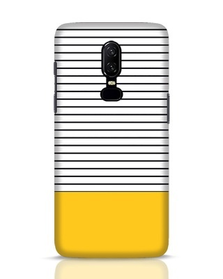 Shop Stripes And Block OnePlus 6 Mobile Cover-Front