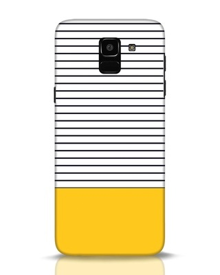 Shop Stripes And Block Samsung Galaxy J6 Mobile Cover-Front
