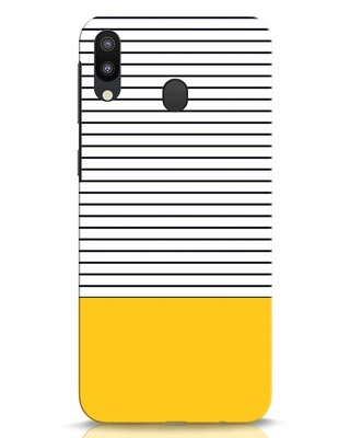 Shop Stripes And Block Samsung Galaxy M20 Mobile Cover-Front
