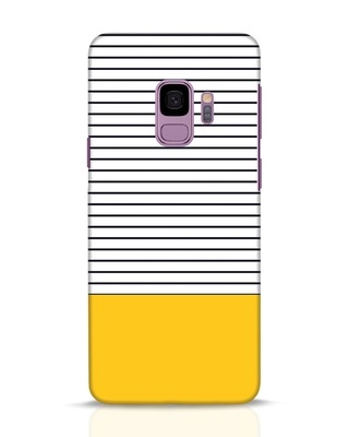 Shop Stripes And Block Samsung Galaxy S9 Mobile Cover-Front