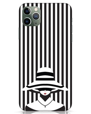 Shop Stripes Lady iPhone 11 Pro Max Mobile Cover-Front