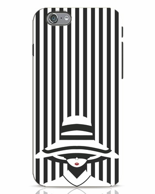 Shop Stripes Lady iPhone 6s Mobile Cover-Front