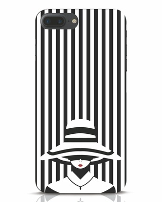 Shop Stripes Lady iPhone 7 Mobile Cover-Front