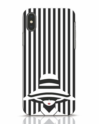 Shop Stripes Lady iPhone X Mobile Cover-Front