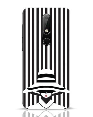 Shop Stripes Lady Nokia 6.1 Plus Mobile Cover-Front