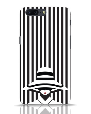 Shop Stripes Lady OnePlus 5 Mobile Cover-Front