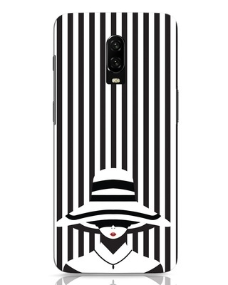 Shop Stripes Lady OnePlus 6T Mobile Cover-Front