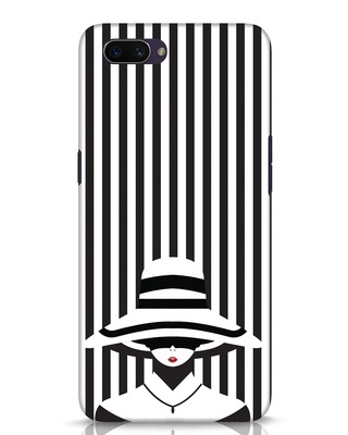 Shop Stripes Lady Oppo A3S Mobile Cover-Front