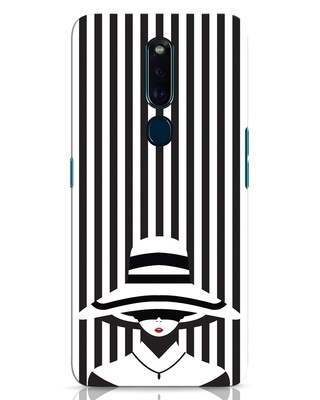 Shop Stripes Lady Oppo F11 Pro Mobile Cover-Front