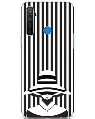 Shop Stripes Lady Realme 5 Mobile Cover-Front