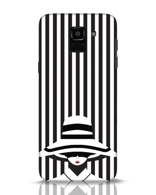 Shop Stripes Lady Samsung Galaxy J6 Mobile Cover-Front