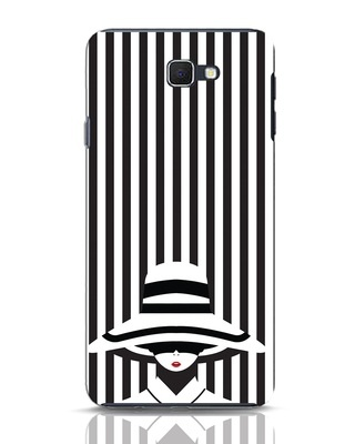 Shop Stripes Lady Samsung Galaxy J7 Prime Mobile Cover-Front