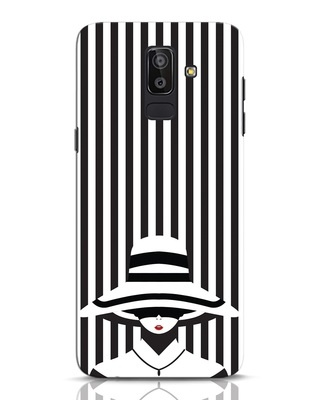 Shop Stripes Lady Samsung Galaxy J8 Mobile Cover-Front