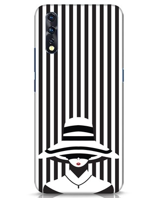 Shop Stripes Lady Vivo Z1x Mobile Cover-Front