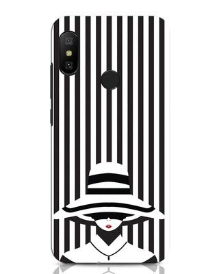 Shop Stripes Lady Xiaomi Redmi Note 6 Pro Mobile Cover-Front