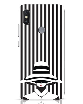 Shop Stripes Lady Xiaomi Redmi Y2 Mobile Cover-Front