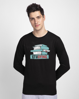 Shop Studying Full Sleeve T-Shirt-Front