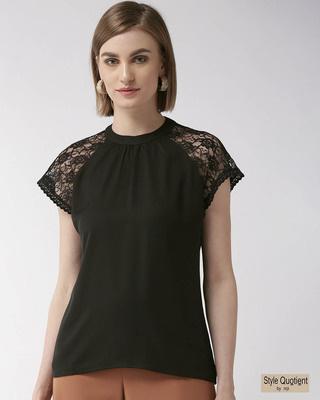 Shop Style Quotient Women Black Solid Regular Top-Front