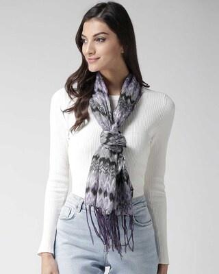 Shop Style Quotient Women Grey & Black Printed Stole-Front