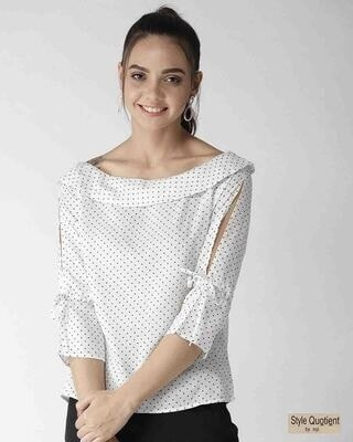 Shop Style Quotient Women White Printed Top-Front