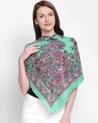 Shop Style Quotient Womens Cotton Green Scarf-Front