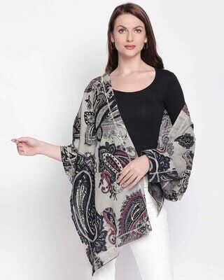 Shop Style Quotient Womens Cotton Grey Scarf-Front