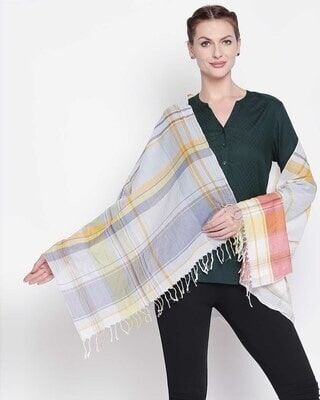 Shop Style Quotient Womens Cotton Multi Color Scarf-Front
