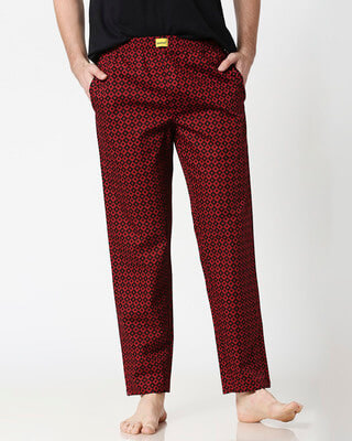 Shop Suits Harlequin All Over Printed Pyjama-Front
