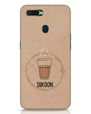 Shop Sukoon Wali Chai Oppo A7 Mobile Cover-Front